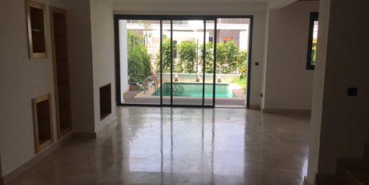 Villa à louer vide à La Palmeraie Bouskoura