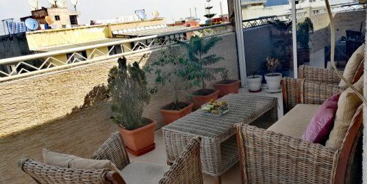 Appartement meublé à louer à Belvédère avec terrasse au dernier étage
